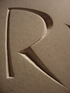 the deeper letter R